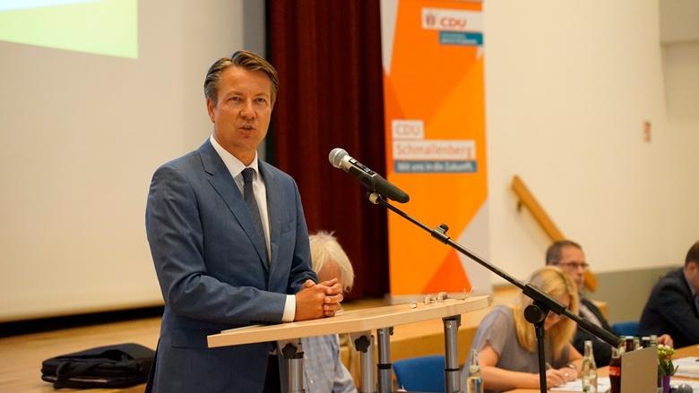 Matthias Kerkhoff bei seinem Grußwort