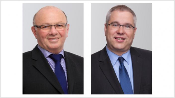 Fraktionsvorsitzender Ludwig Poggel und Stadtverbandsvorsitzender Hans-Georg Bette erläutern den Standpunkt der Schmallenberger CDU zur Übertragung der Abwasserbeseitigung auf den Ruhrverband.
